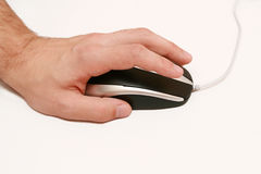 De muis en de hand van de computer Stock Foto