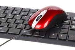 De muis en het toetsenbord van de computer Stock Afbeelding