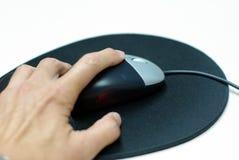 De muis van de computer en muisstootkussen stock afbeelding