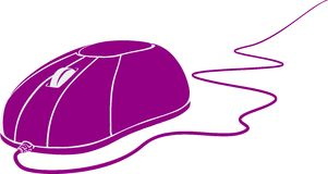 De muis van de computer op witte achtergrond vector illustratie