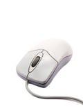De muis van de computer op witte achtergrond met zachte schaduw stock foto's