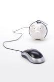 De muis van het spaarvarken en van de computer Royalty-vrije Stock Afbeelding