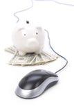 De muis van het spaarvarken en van de computer Royalty-vrije Stock Afbeeldingen