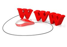 De muis van WWW en van de computer Stock Foto