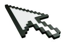 De muiscurseur van de pijl in 3d - geen schaduwen stock illustratie