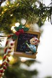 De muisleraar van het kerstboomornament Stock Afbeelding