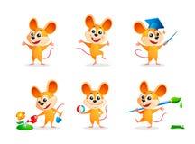 De muizen van het beeldverhaal Royalty-vrije Stock Afbeelding