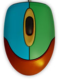De multi-coloured muis. royalty-vrije stock foto