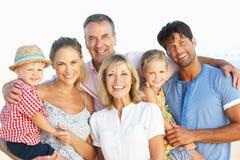 De multi Familie die van de Generatie van de Vakantie van het Strand geniet Royalty-vrije Stock Fotografie