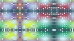 De multi gekleurde achtergrond die in langzame motie als camera vliegen trekt weg en roteert, geschoten met de controle van de ho stock illustratie