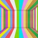 De multi houten ruimte van de Kleur Stock Fotografie