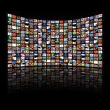 De multi media schermen die beelden/informatie tonen Royalty-vrije Stock Afbeelding