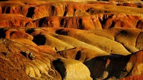 De multicoloured stranden van Xinjiang stock afbeeldingen