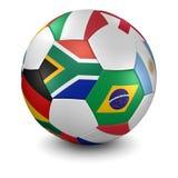 De mundo do copo esfera 2010 de futebol ilustração stock