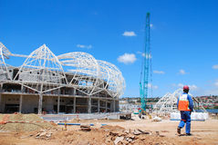 De mundo do copo estádio 2010 de futebol foto de stock royalty free