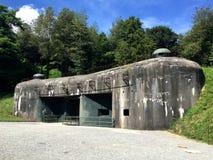 De munitieingang, blokkeert 7 in Ouvrage Schoenenbourg, Maginot-lijn Stock Afbeelding