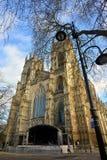 De Munster en de straatlantaarn van York stock afbeelding