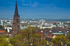 De Munster van Freiburger Stock Afbeeldingen
