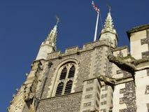 De Munsterkerk van St John Baptist in Croydon, Surrey, het UK stock afbeeldingen