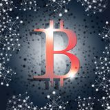 De Munt van Bitcoininternet Royalty-vrije Stock Afbeeldingen