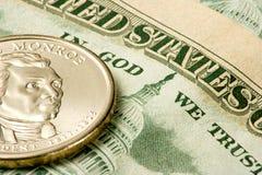 De munt van de V.S. royalty-vrije stock afbeeldingen