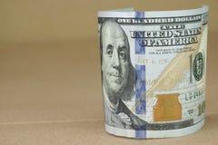 De Munt van de Verenigde Staten van Amerika Honderd Dollarrekening Royalty-vrije Stock Foto's