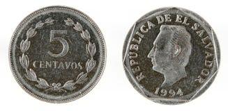 De munt van El Salvador stock afbeelding