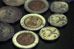 De munt van Israël Stock Afbeeldingen