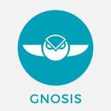 De munt vectorembleem van Gnosisgno cripto Stock Foto's