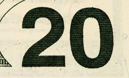 De muntbankbiljet van de V.S. Royalty-vrije Stock Afbeelding