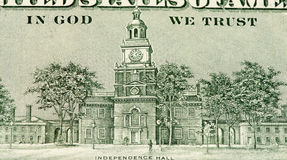 De muntbankbiljet van de V.S. Royalty-vrije Stock Foto's