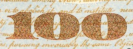De muntbankbiljet van de V.S. Stock Afbeeldingen