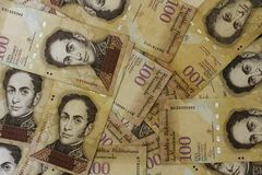 De muntgeld Bolivares BS 100 van Venezuela Royalty-vrije Stock Afbeelding