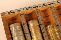 De muntstukken in een Muntstuk trekken Royalty-vrije Stock Fotografie