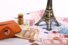 De muntstukken en de bankbiljetten van Euros Money Royalty-vrije Stock Foto