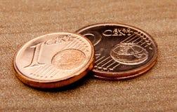 De muntstukken van de cent stock foto's