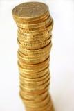 De muntstukken van de dollar Stock Foto's