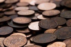 De muntstukken van de Eucocent Stock Afbeelding