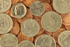 De muntstukken van de V.S. stock foto's