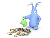 De muntstukken van het geld Stock Fotografie