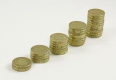 De muntstukken van het pond   Stock Afbeeldingen
