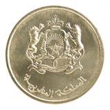 De muntstukken van Marokko Stock Afbeeldingen