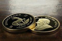 de muntstukken van 1 ons gouden passement royalty-vrije stock fotografie