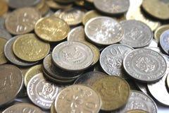 De muntstukken van Singapore Stock Fotografie