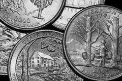 De muntstukken van Verenigde Staten stock afbeelding