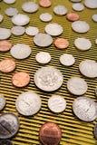 De muntstukken van Verenigde Staten stock fotografie