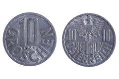 De muntstukkenmacro van Roemenië Stock Foto's