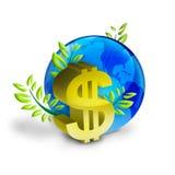 De muntsymbool van de dollar royalty-vrije illustratie