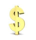 De muntsymbool van de dollar vector illustratie
