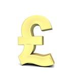 De muntsymbool van het pond stock illustratie